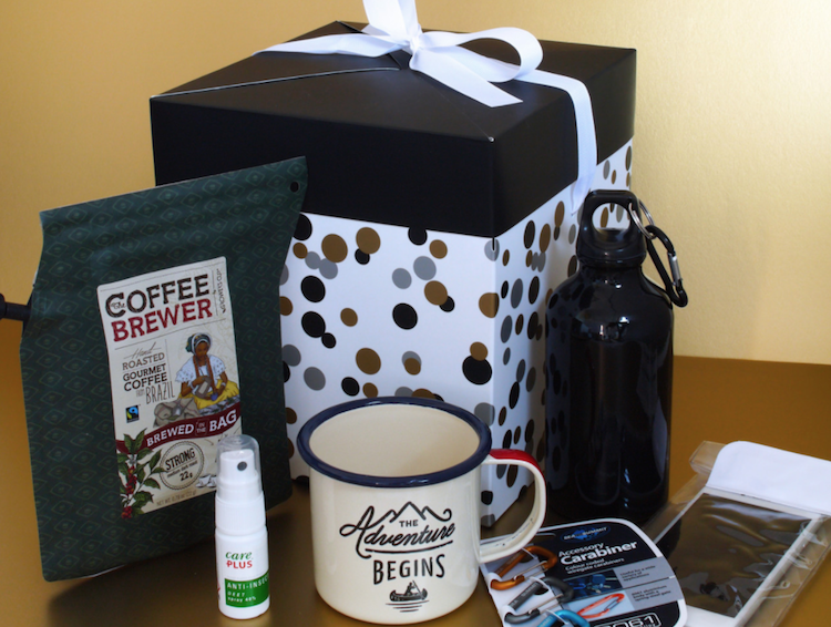 Cadeau voor reiziger en backpacker cadeaubox