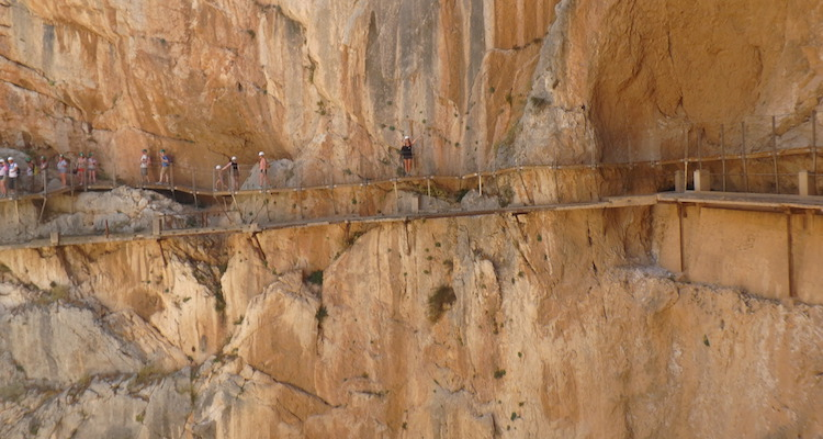 Caminito del Rey gevaarlijkste wandelroute Spanje