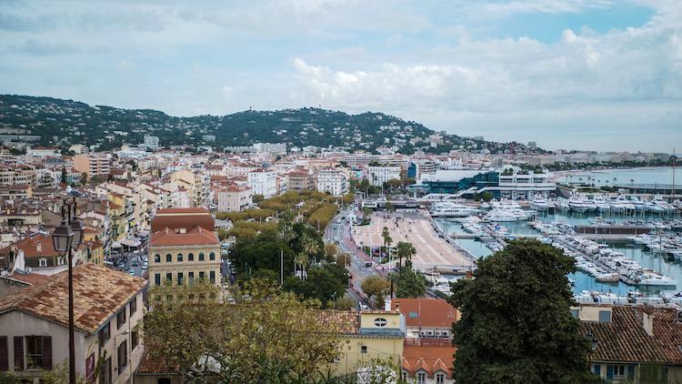 Cannes cruise vakantie haven vanaf boven