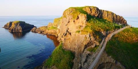 Carrick a rede de touwbrug in Noord-Ierland