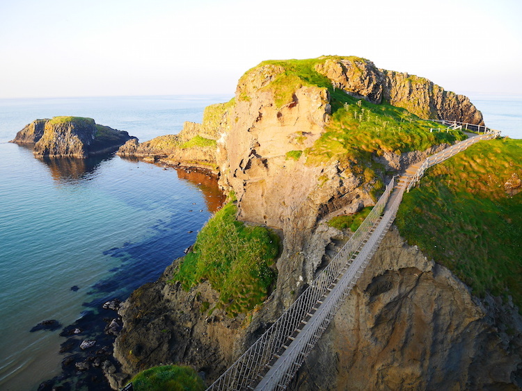Carrick-a-rede touwbrug noord ierland