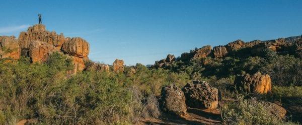 Cederberg klipopmekaar in zuid-afrika