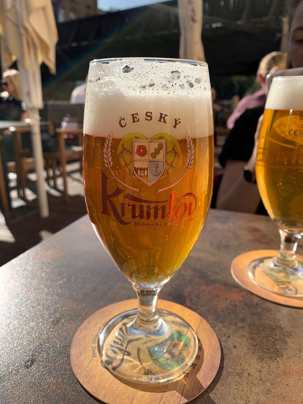 Cesky Krumlov biertje