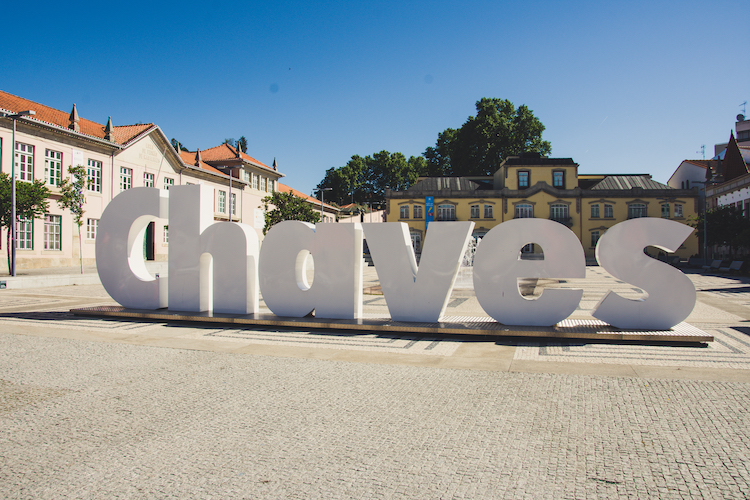 Chaves letters in noord portugal
