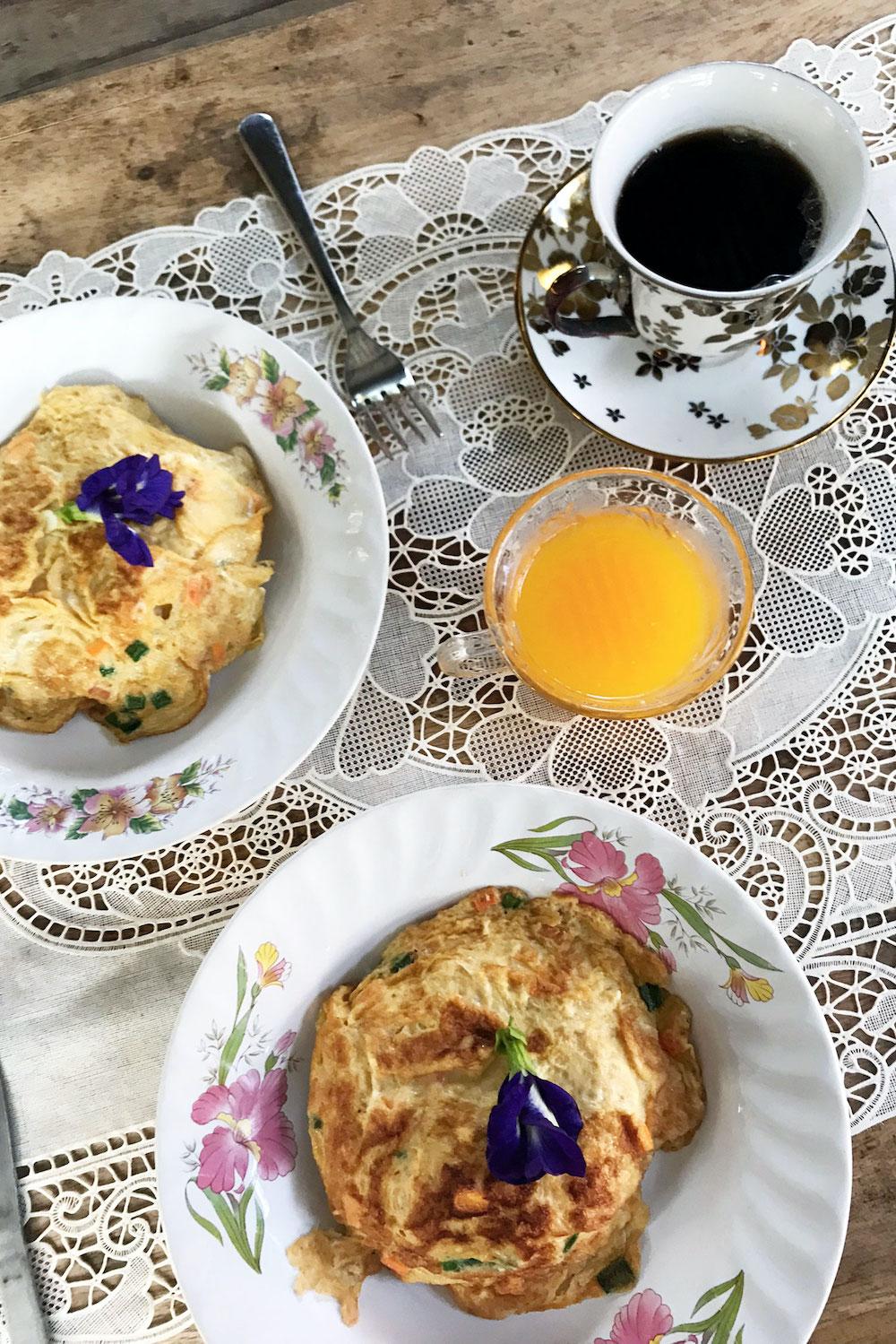 Chiang Mai in Thailand ontbijt Lanna House Lanna Hut