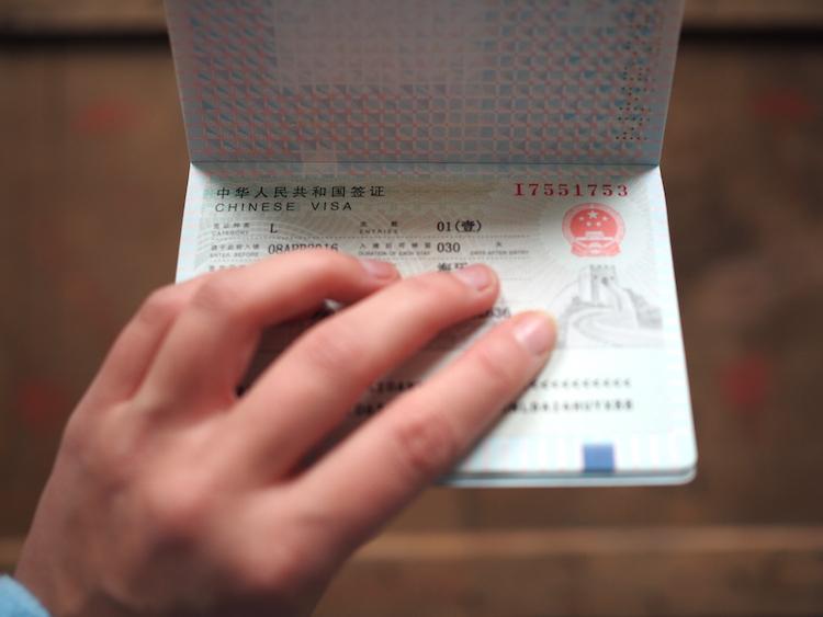 Chinese visa paspoort