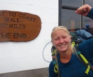 Coast to Coast wandeling Engeland einde