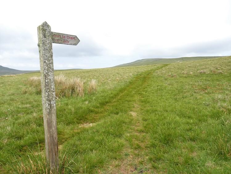 Coast to coast wandeling bordje engeland