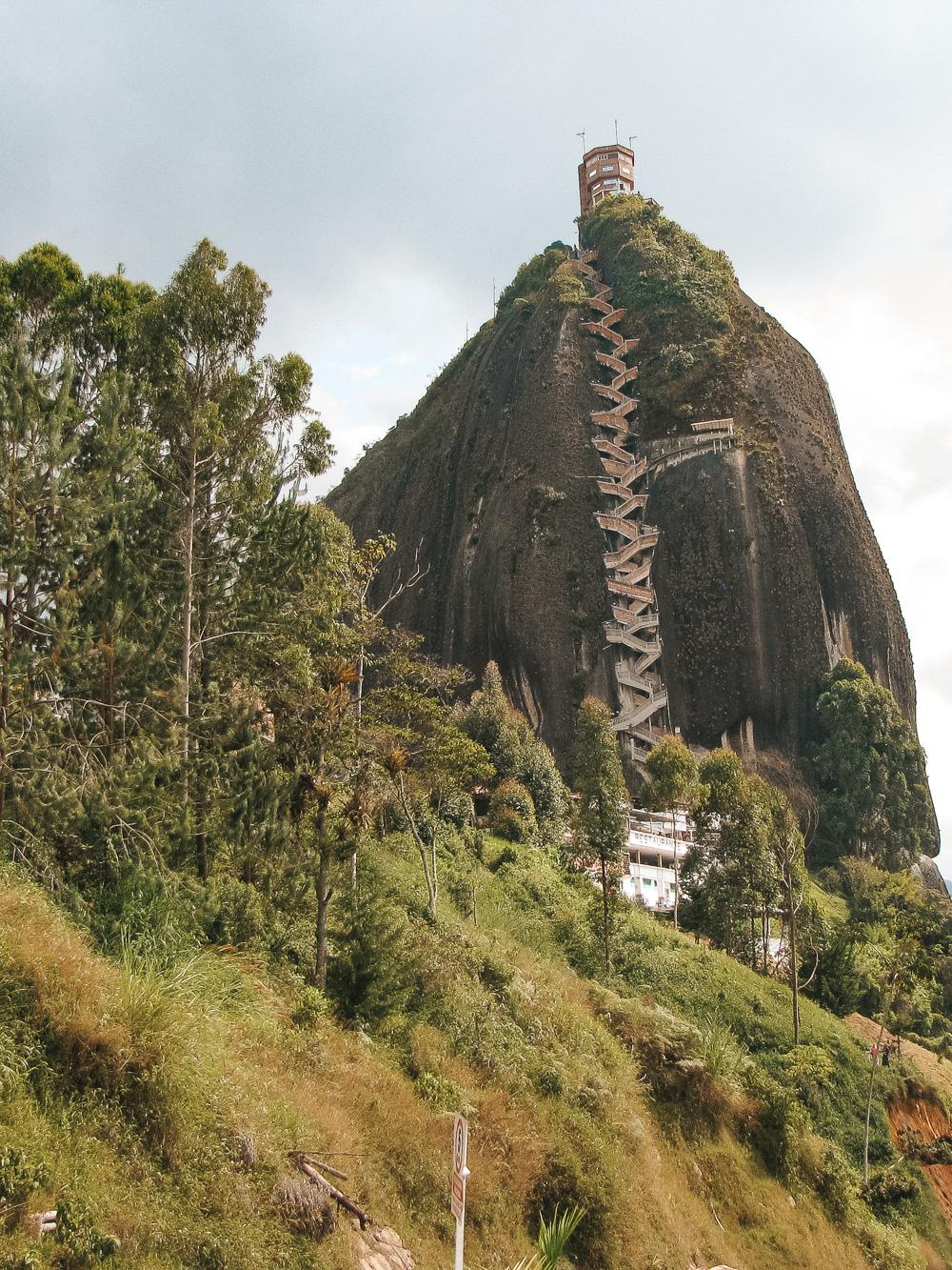 Colombia reisroute Piedra el penol