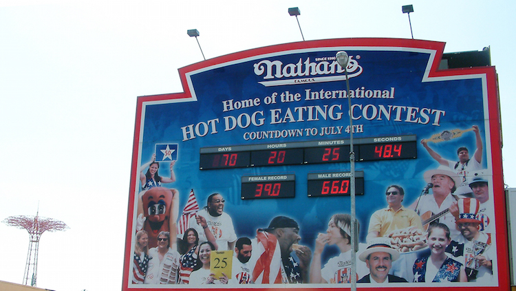 Coney Island nathans hot dog eating contest new york