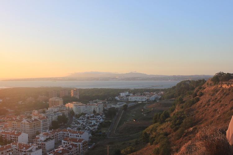 Costa da Caparica portugal uitzicht