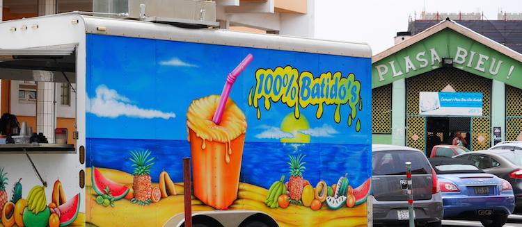 Curacao smoothie kar plasa bieu