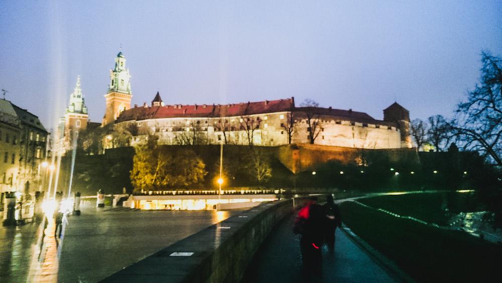 Het Wawel kasteel in Krakau