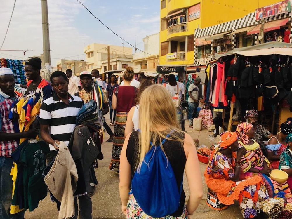 Dakar markt vakantie senegal