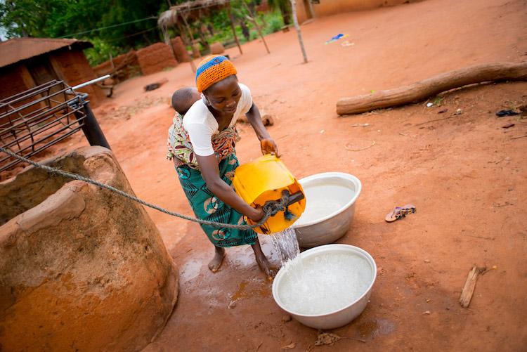 De dorpen in Benin Afrika reizen naar Benin