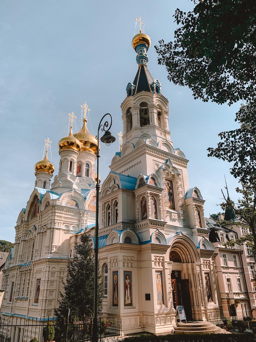 De orthodoxe kerk van Karlovy Vary