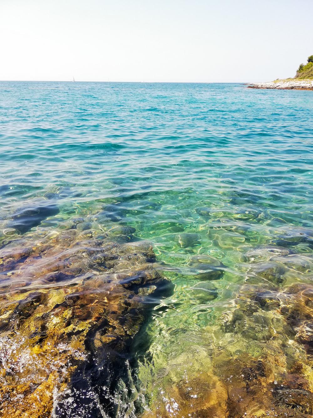 De zee bij Vrsar, Istrië