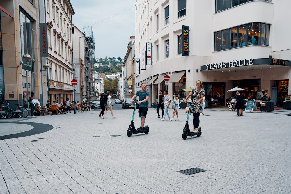 Deel stepjes in Stuttgart