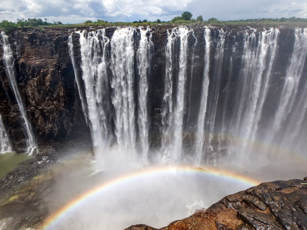 Devils Pool Victoria Watervallen in Zambia