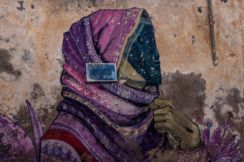 Djerba Tunesie straatkunst erriadh