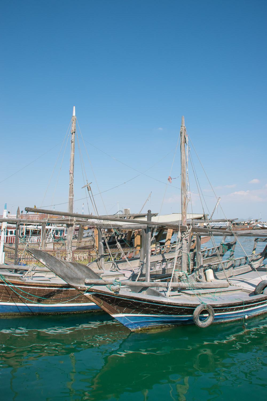 Doha dhow boats