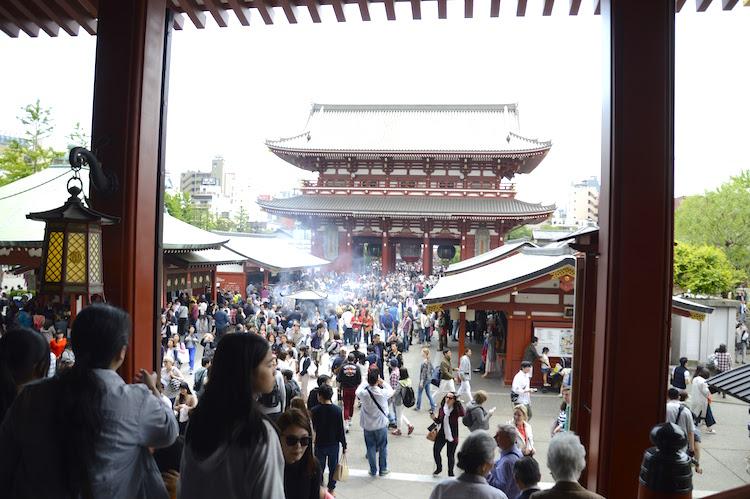 Drukte Senso Ji tempel tokyo