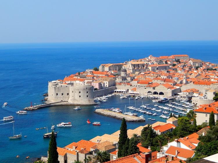 Dubrovnik in Kroatie rondreis route