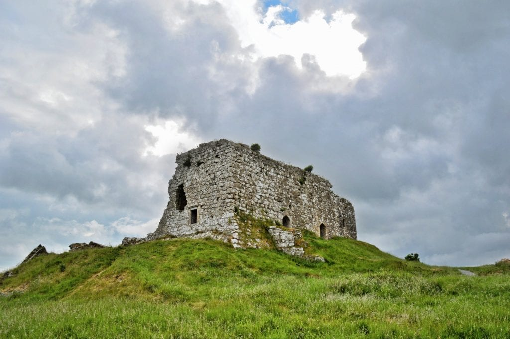 Dunamase ruines in oost ierland