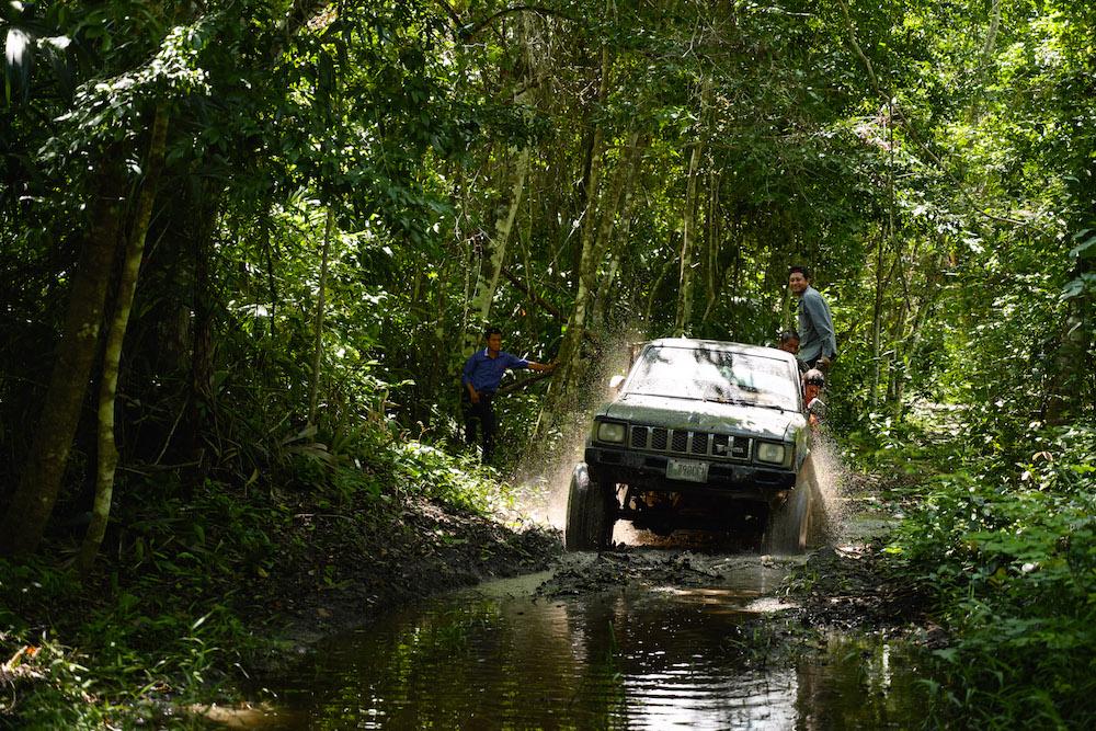 El Zotz guatemala 4x4 auto tocht jungle