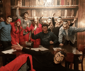 Escape room time casa de papel