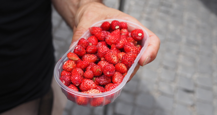 Eten in rome aardbeien