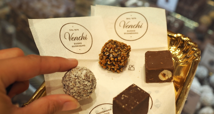 Eten in Rome chocola Venchi