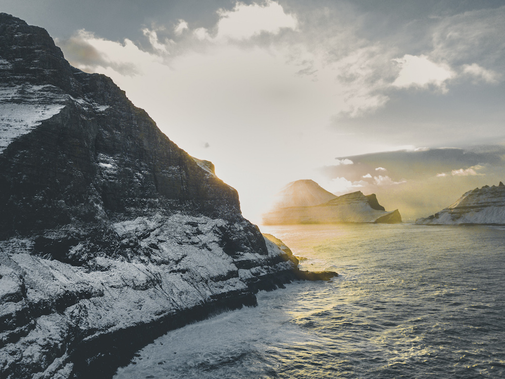 Faroer Eilanden vakantie winter sneeuw