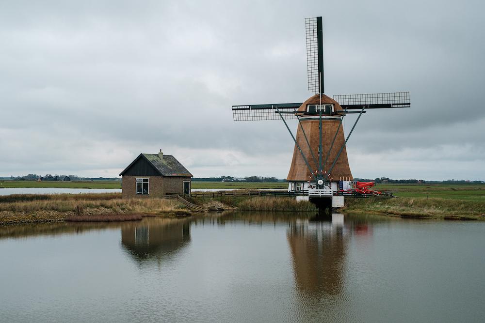 Fietsen Texel molen