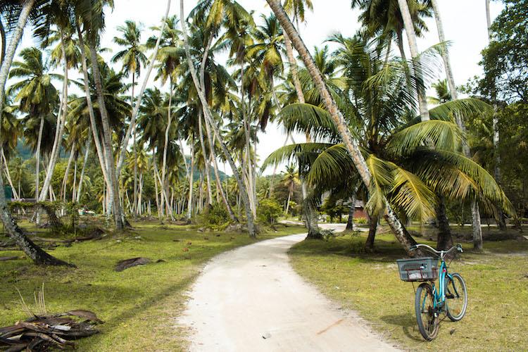Fietsen backpacken Seychellen budget
