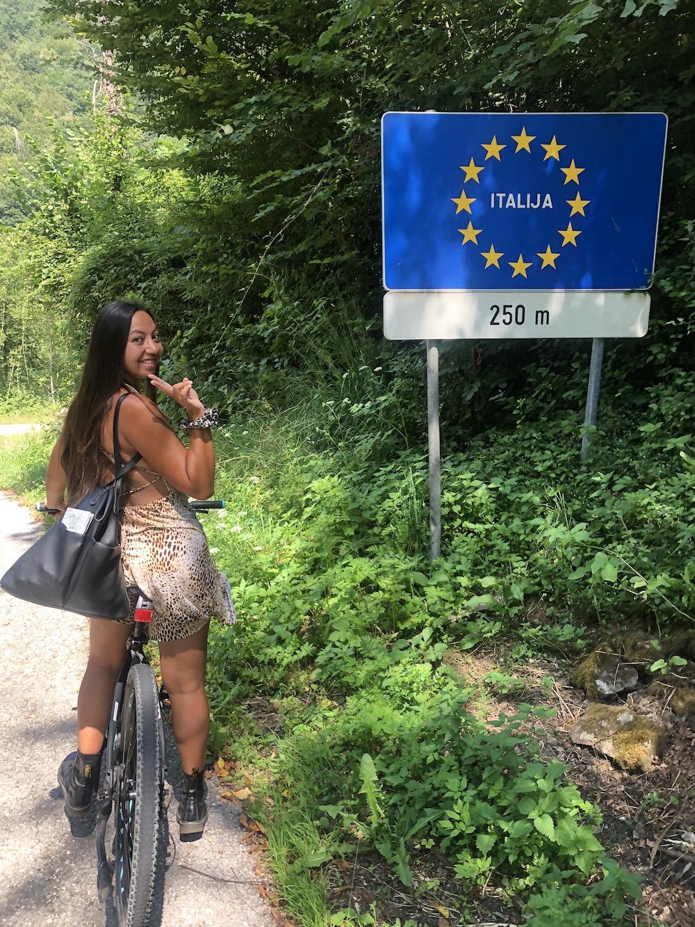 Fietsen van Neblo naar Italie