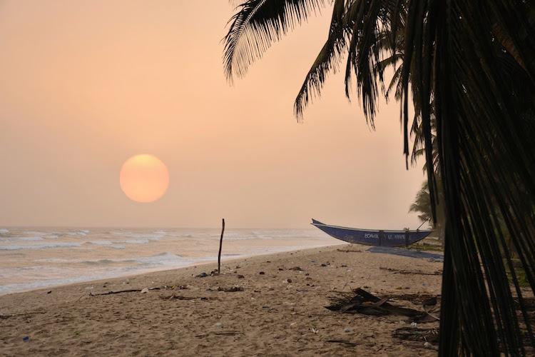 Ghana rondreizen zonsondergang