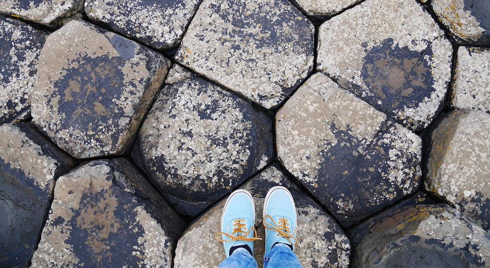 Giant's Causeway Basalten zeshoekige stenen