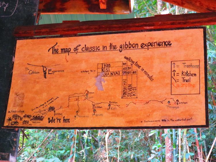 Gibbon Experience parcours laos zipline
