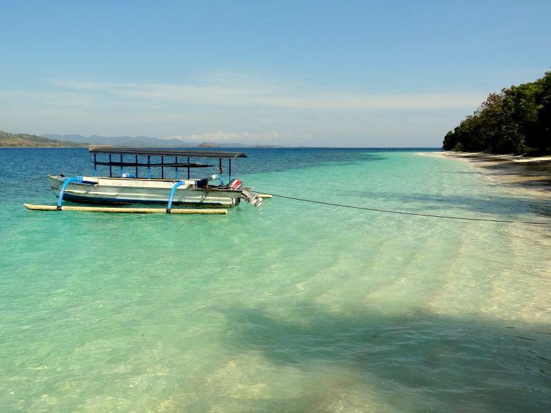 Gili eilanden Gili Nanggu stranden