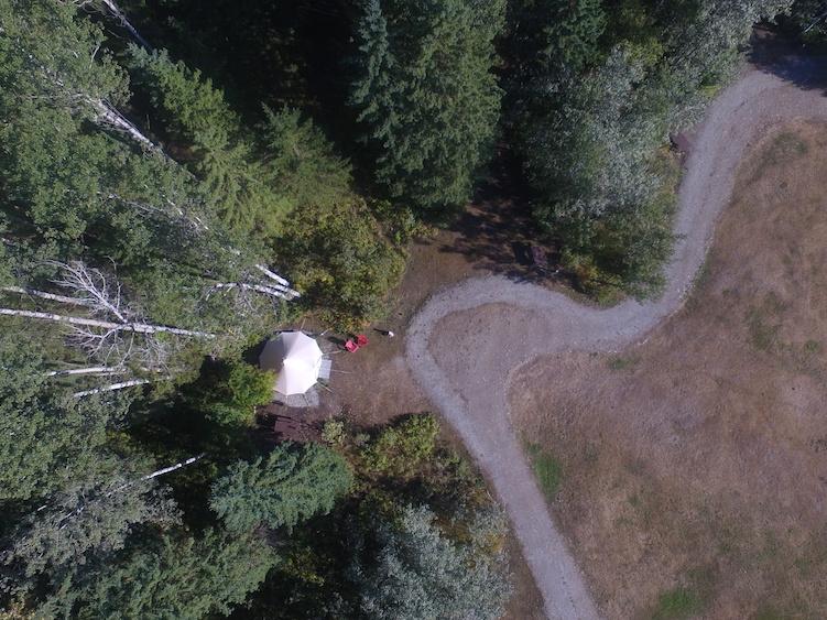 Glamping in Canada foto van boven