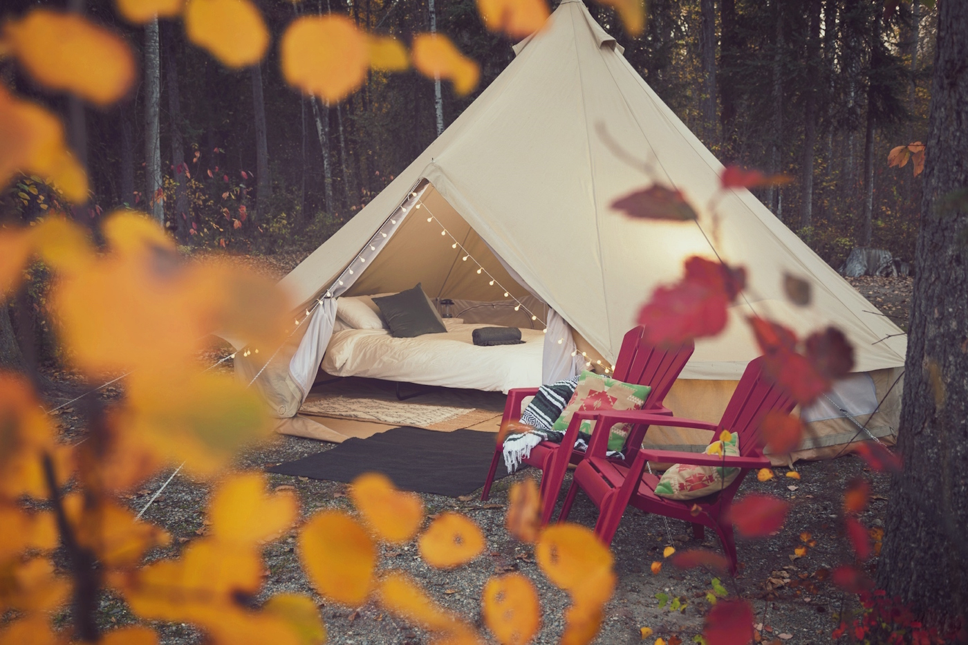 Glamping in Golden Canada
