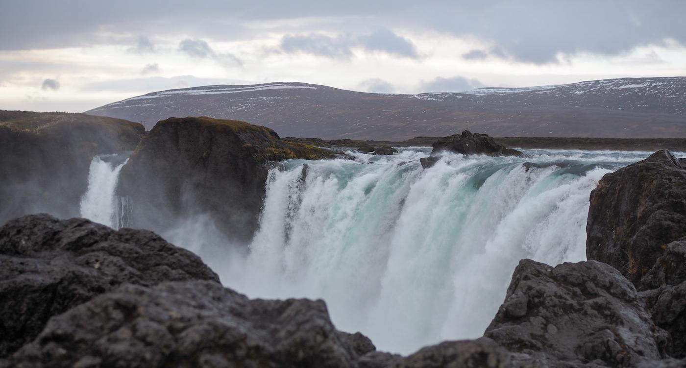 Godafoss waterval ijsland