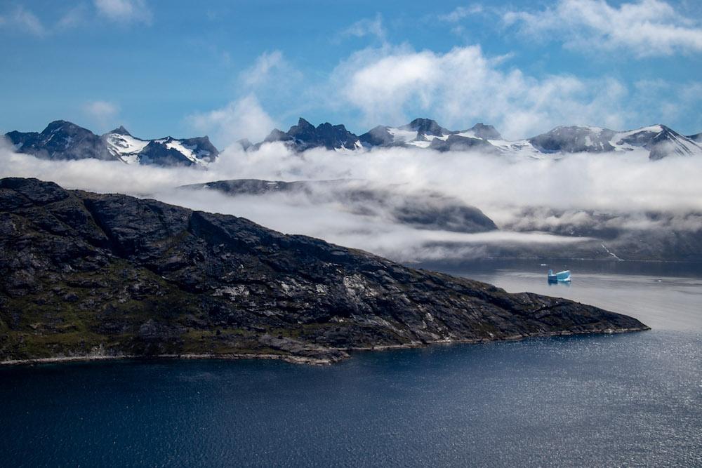 Groenland helikoptervlucht
