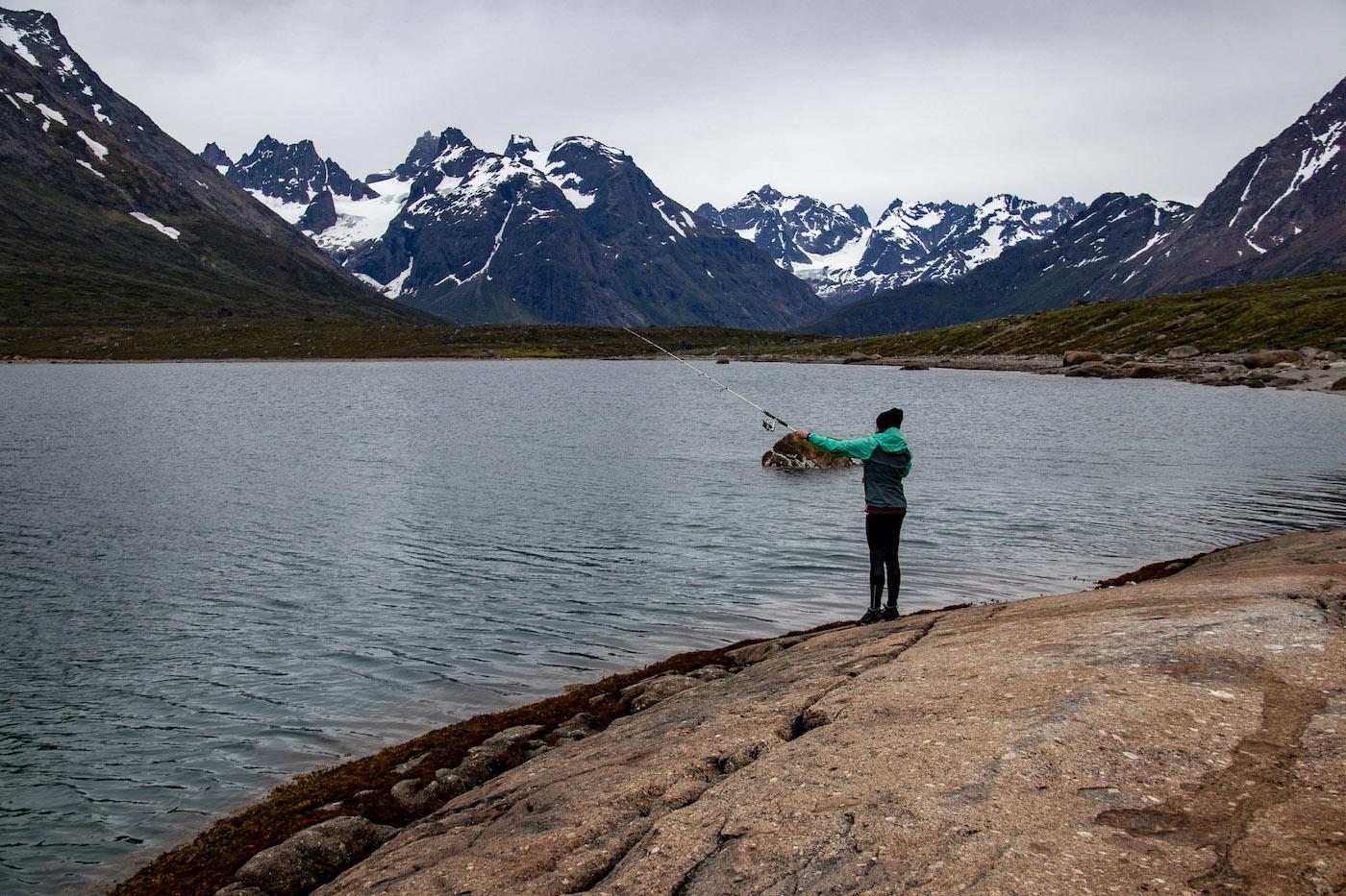 Groenland vakantie vissen met permit