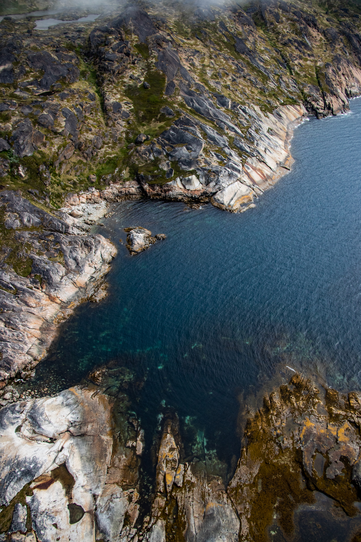 Groenland vanuit de helikopter