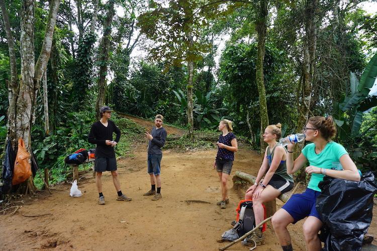 Groep hike Verloren Stad Colombia