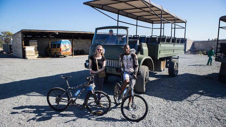 Guide fietssafari bij kaapstad