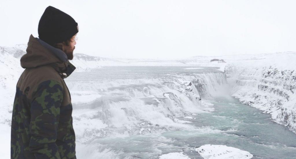 Gullfoss IJsland winter