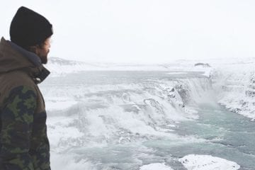 Gullfoss IJsland winter